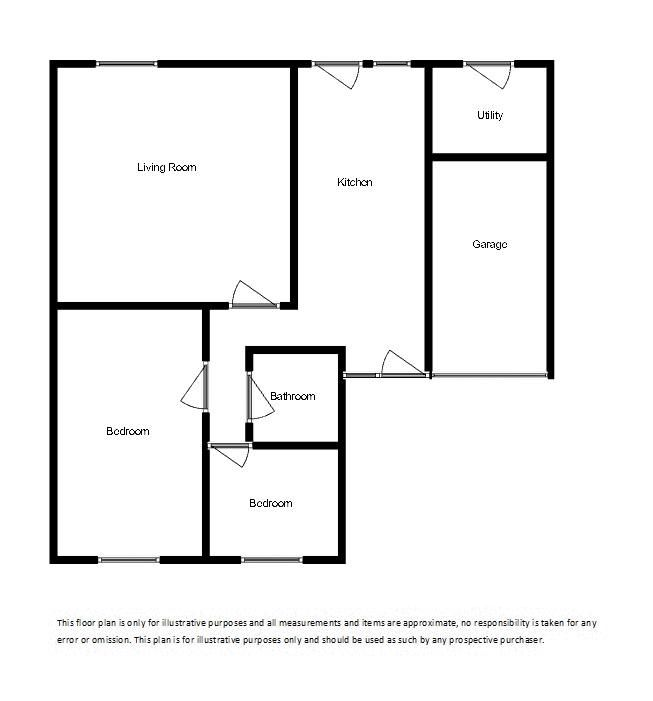 2 bed bungalow for sale in Yetminster - Property Floorplan