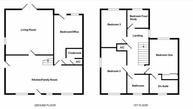 4 bed house for sale in Norton Sub Hamdon - Property Floorplan