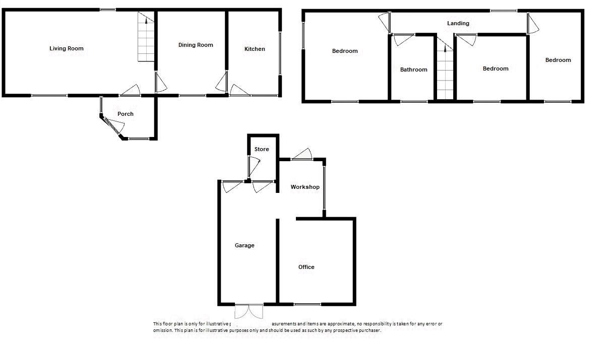 3 bed house for sale in Broadway, Ilminster - Property Floorplan