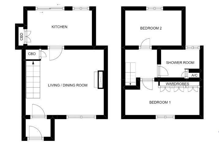 2 bed cottage for sale in Milton, Martock - Property Floorplan