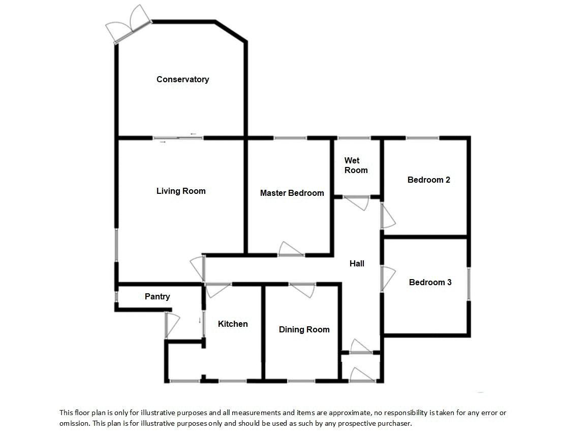 3 bed bungalow for sale in South Petherton - Property Floorplan