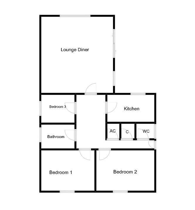 3 bed bungalow for sale in Yeovil - Property Floorplan