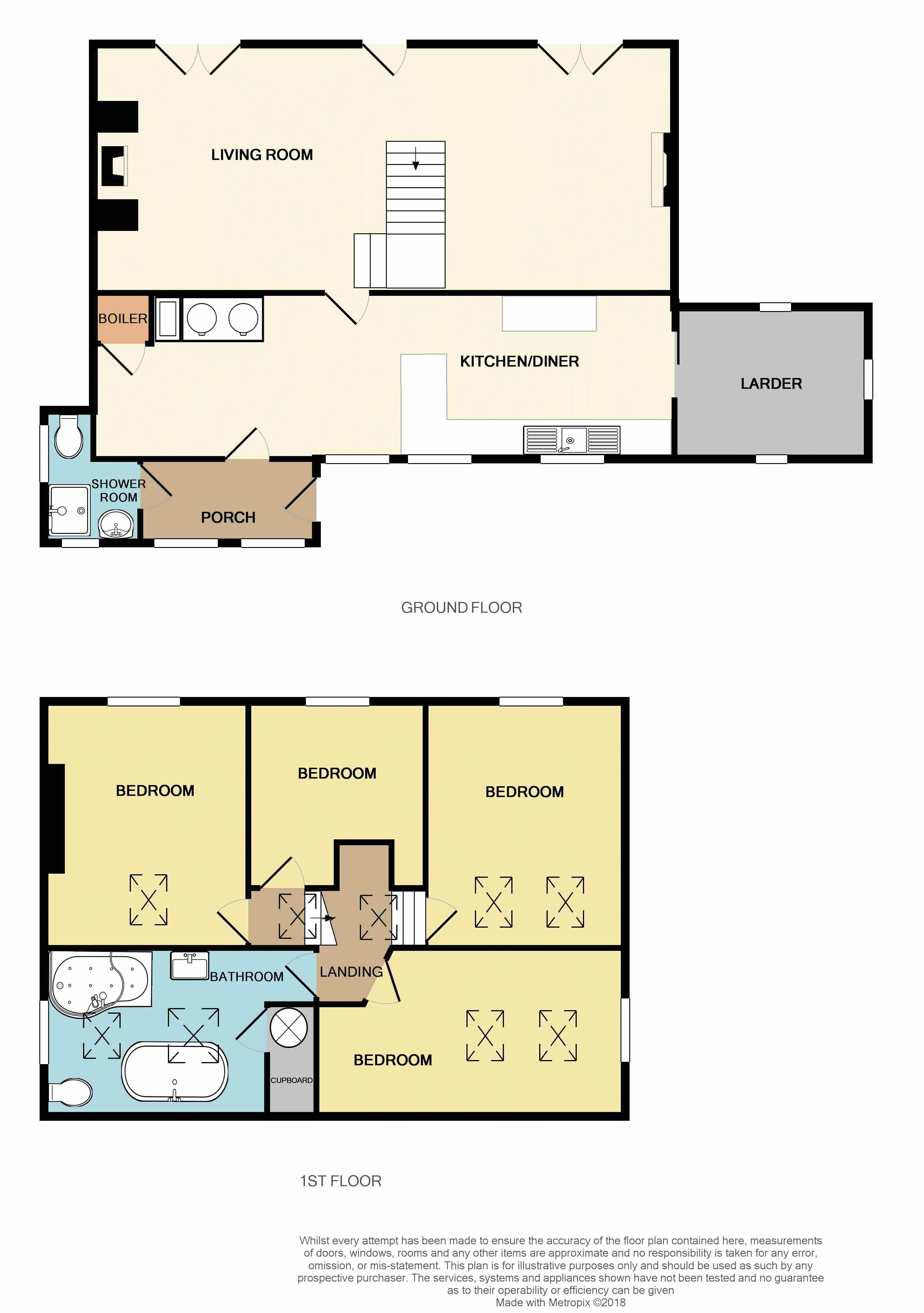 4 bed  for sale in Treven Lane, Hayle - Property Floorplan
