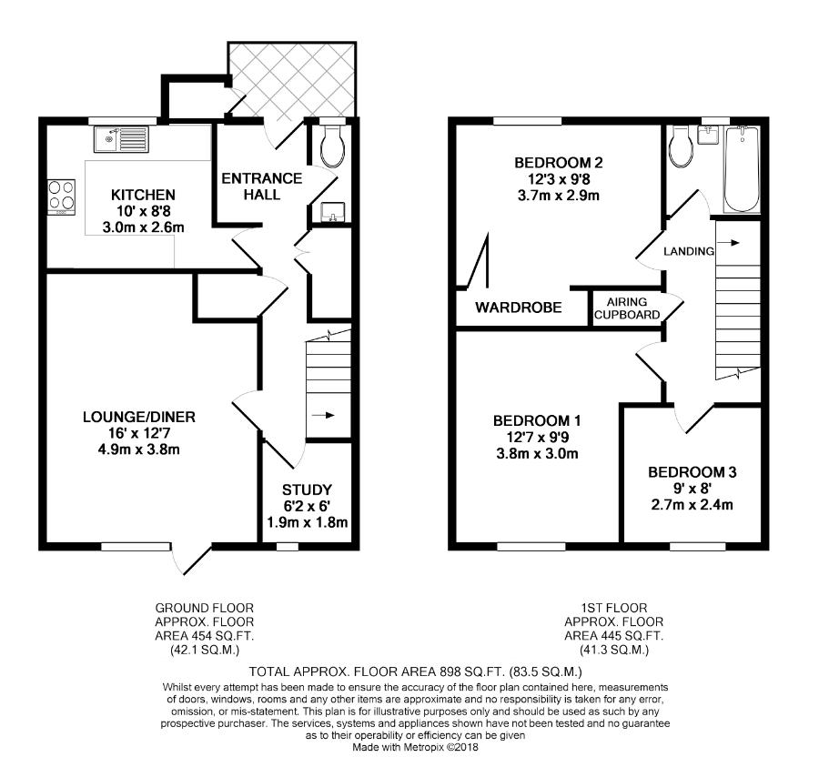 3 bed house for sale in Views over Yatton countryside - Property Floorplan
