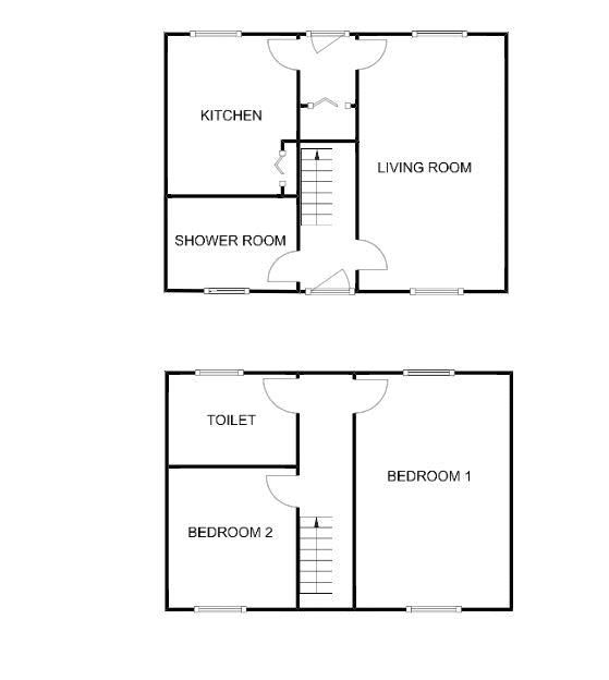2 bed house for sale in Middle Chinnock - Property Floorplan