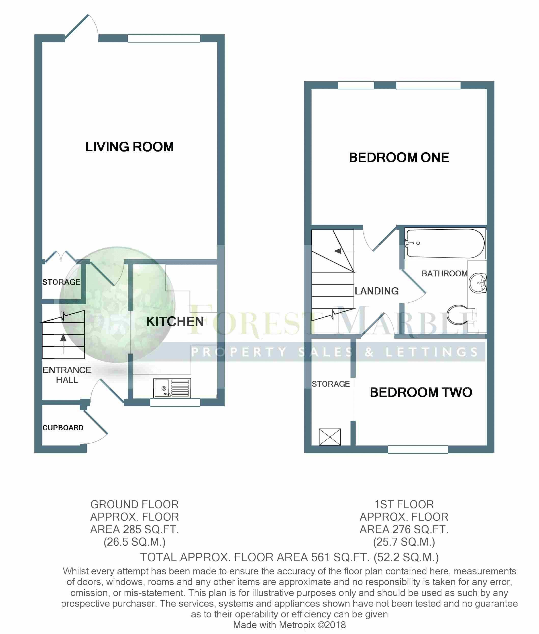 2 bed house for sale in Charter House Drive, Frome - Property Floorplan
