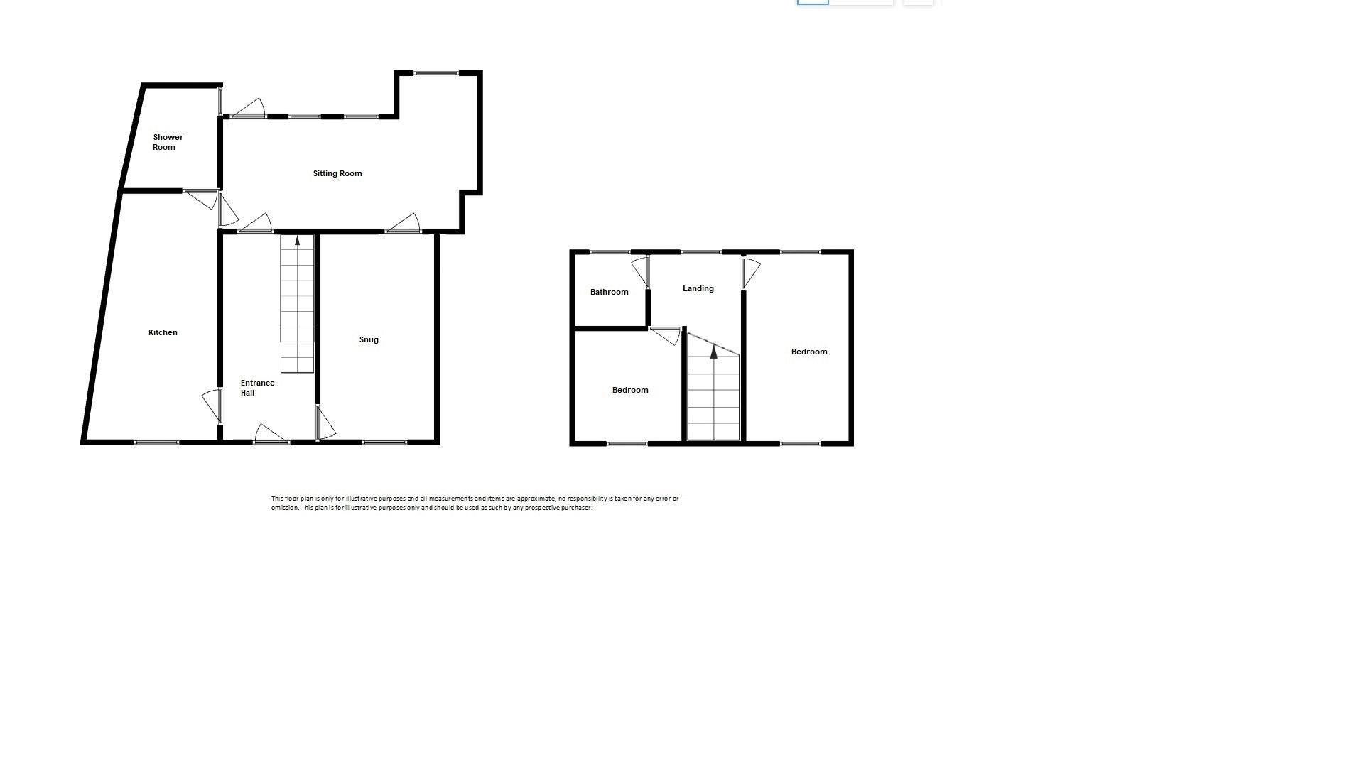 2 bed cottage for sale in Chiselborough - Property Floorplan