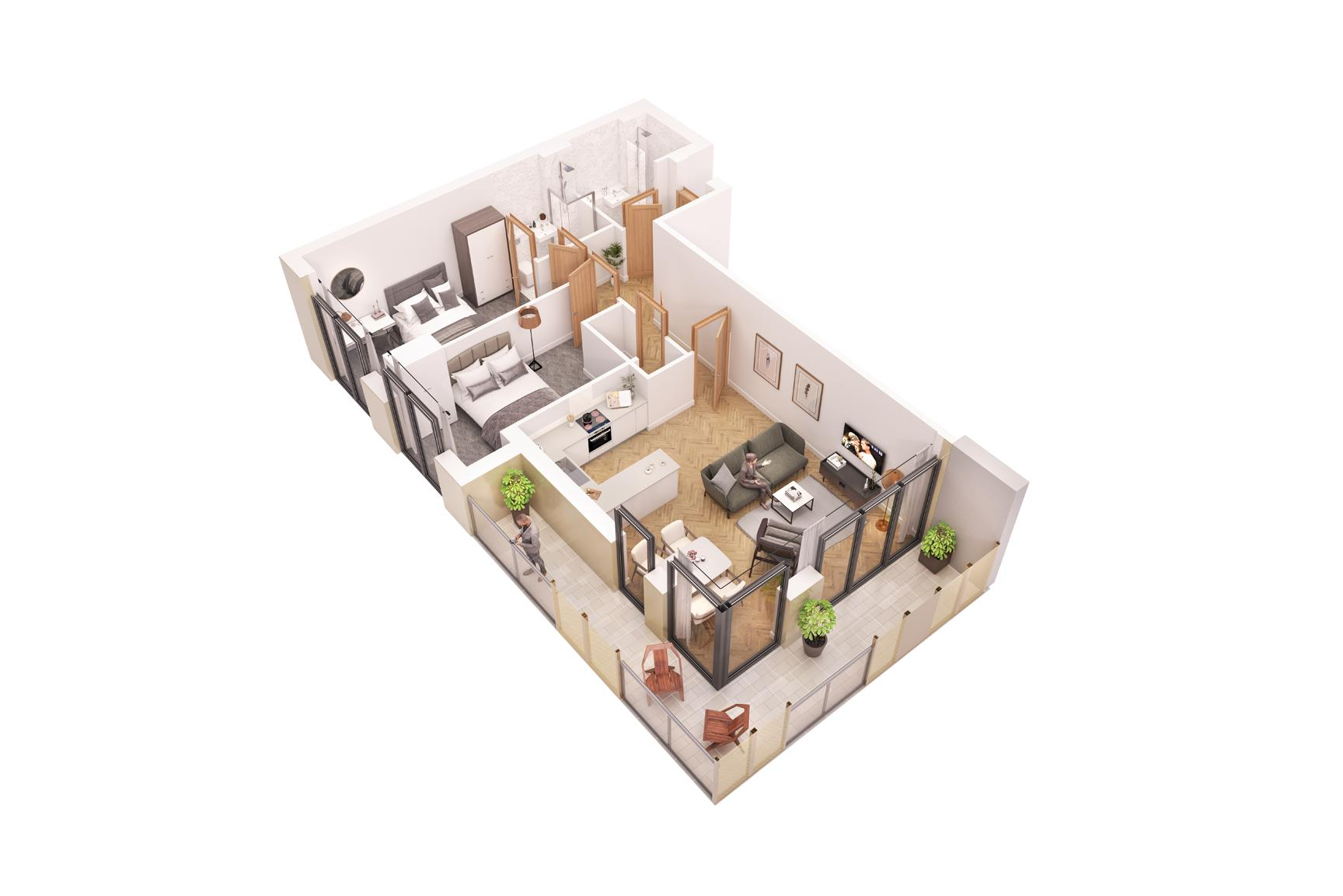 2 bed flat for sale in Pier Approach Road - Property Floorplan