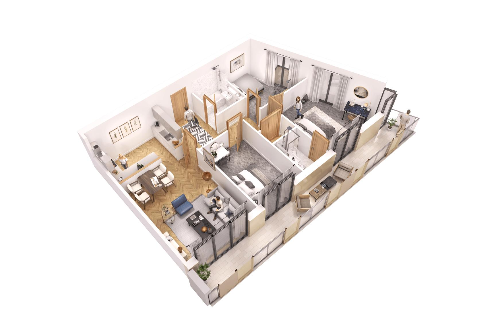 3 bed flat for sale in Pier Approach Road - Property Floorplan