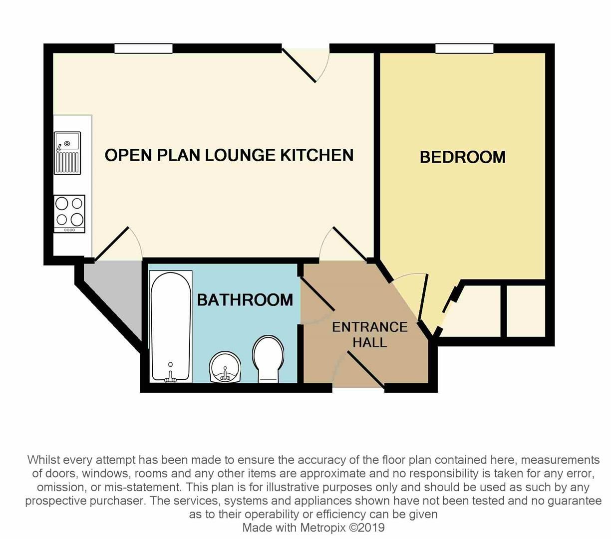 1 bed apartment for sale in Wordsley - Property Floorplan