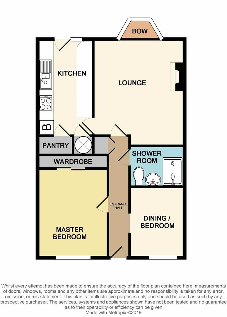 2 bed terraced-bungalow for sale - Property Floorplan