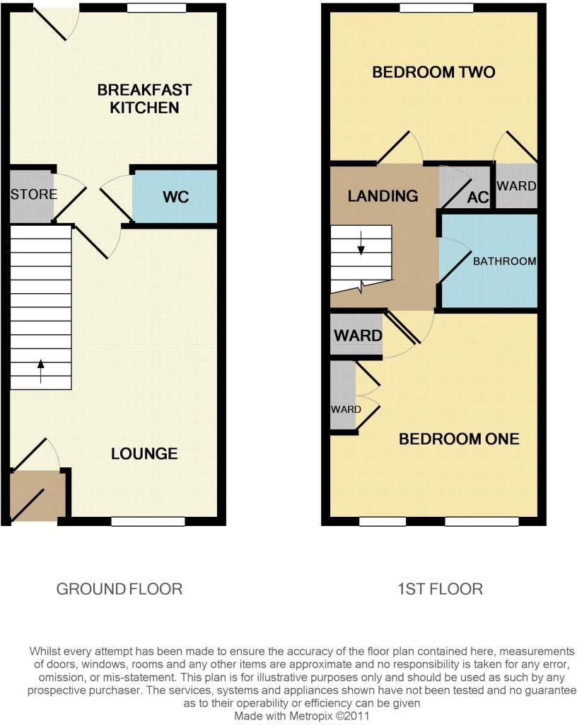 2 bed terraced for sale - Property Floorplan