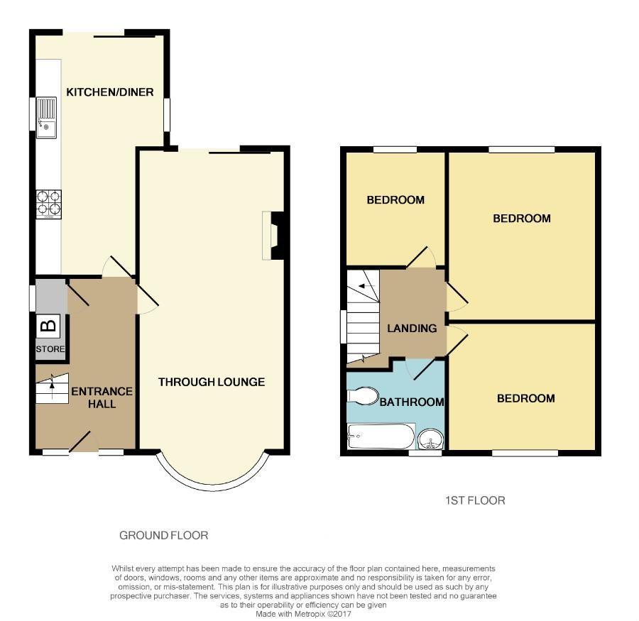 3 bed semi-detached for sale - Property Floorplan