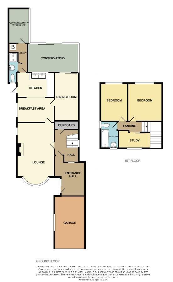 2 bed detached for sale in Hunnington - Property Floorplan