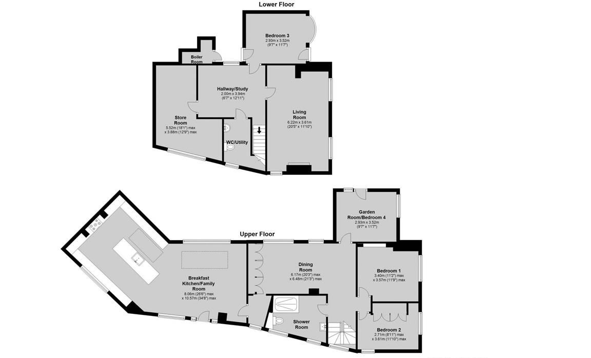 4 bed house for sale in Clent - Property Floorplan