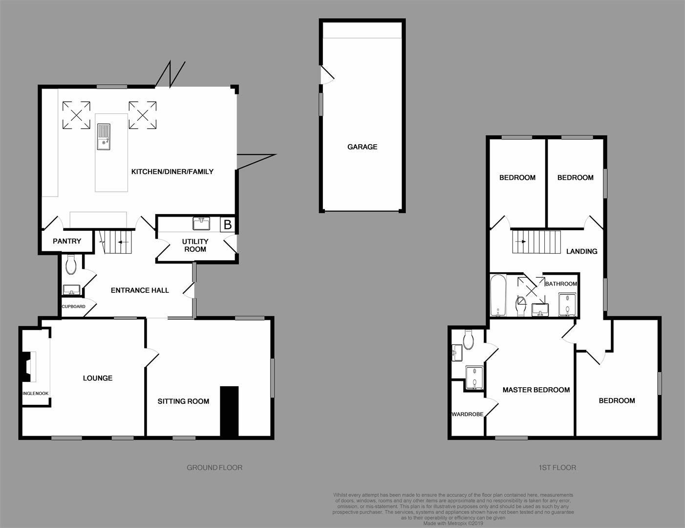4 bed house for sale in Belbroughton - Property Floorplan