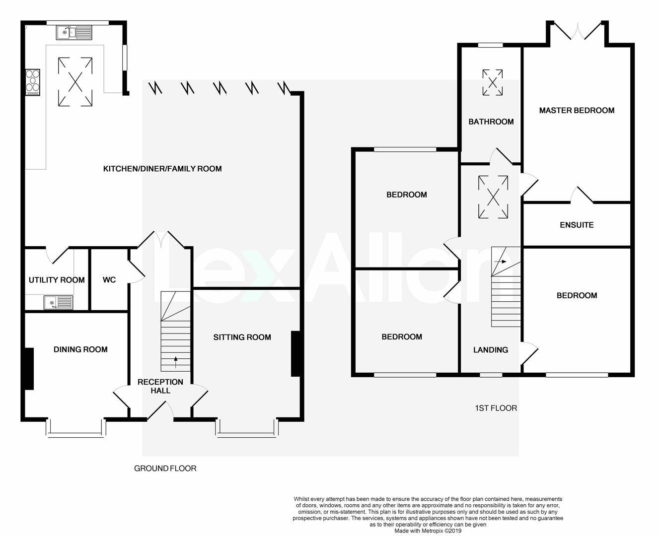 4 bed detached for sale in Hagley - Property Floorplan