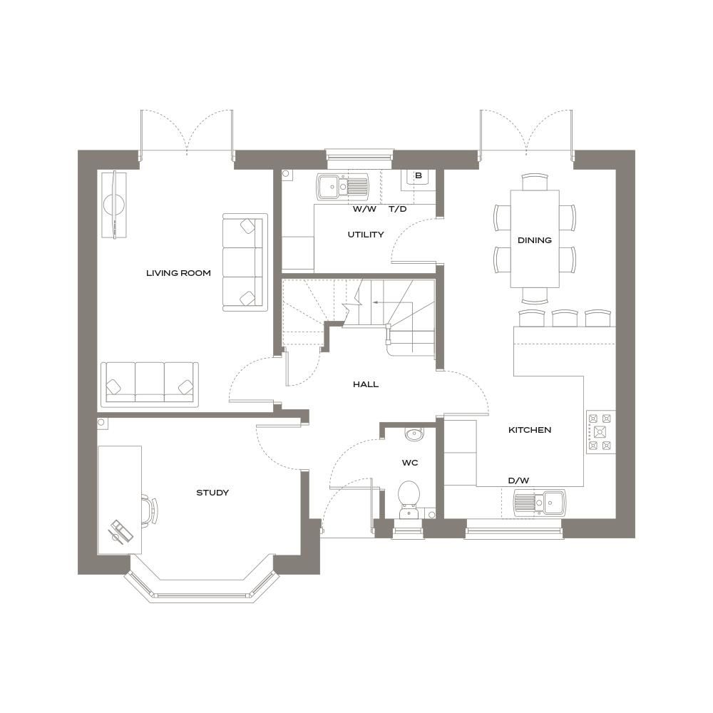 4 bed detached for sale - Property Floorplan