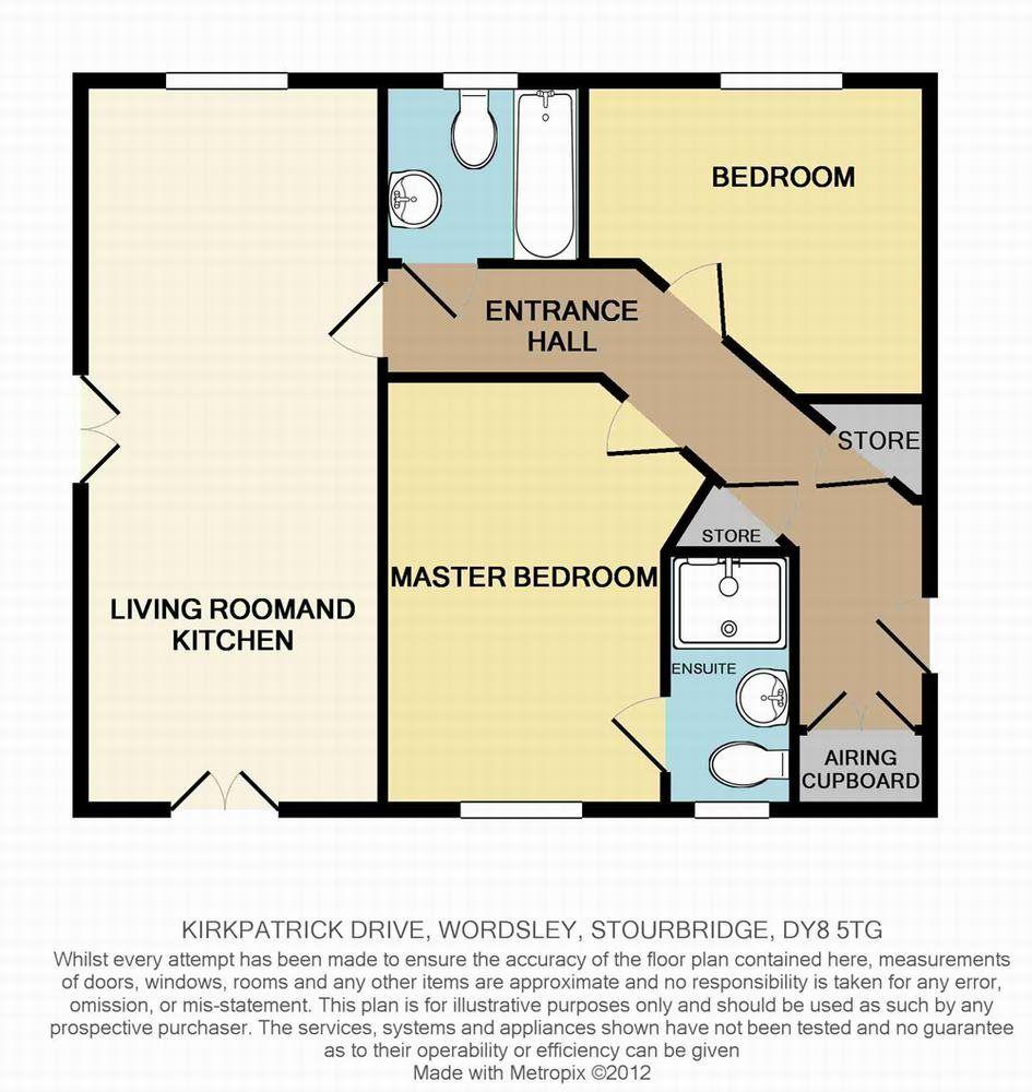 2 bed  to rent in Wordsley - Property Floorplan