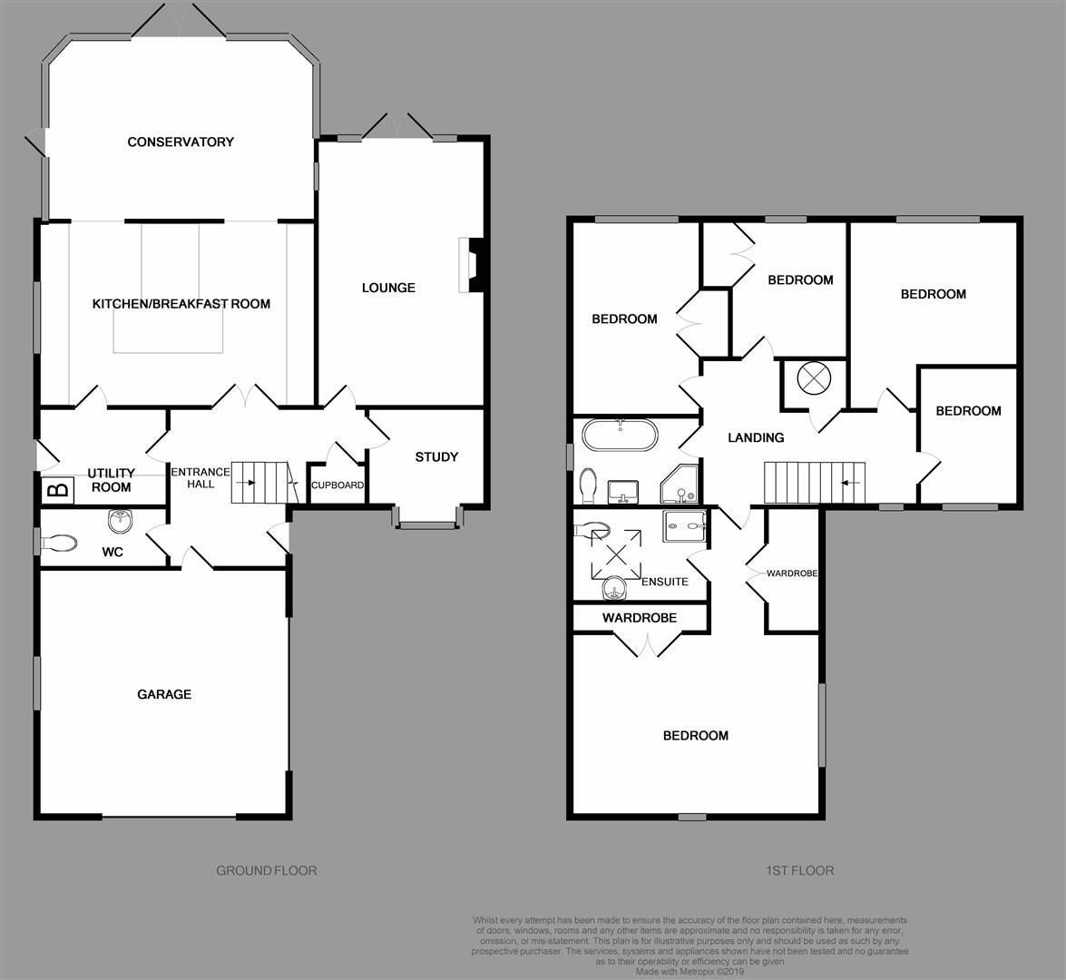5 bed house for sale in Hagley - Property Floorplan