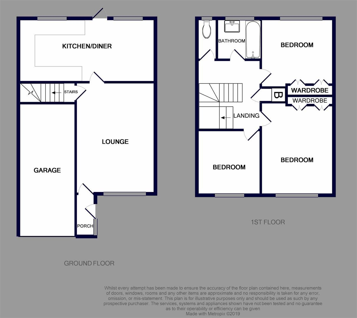 3 bed terraced for sale - Property Floorplan