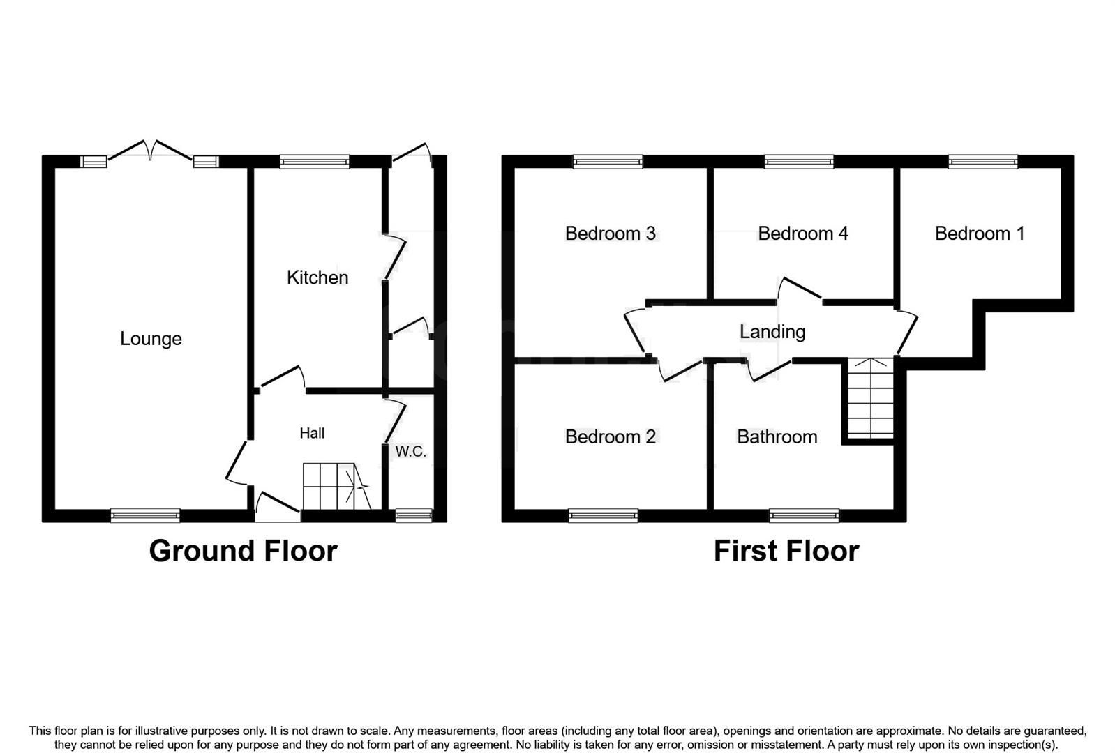 4 bed terraced for sale - Property Floorplan