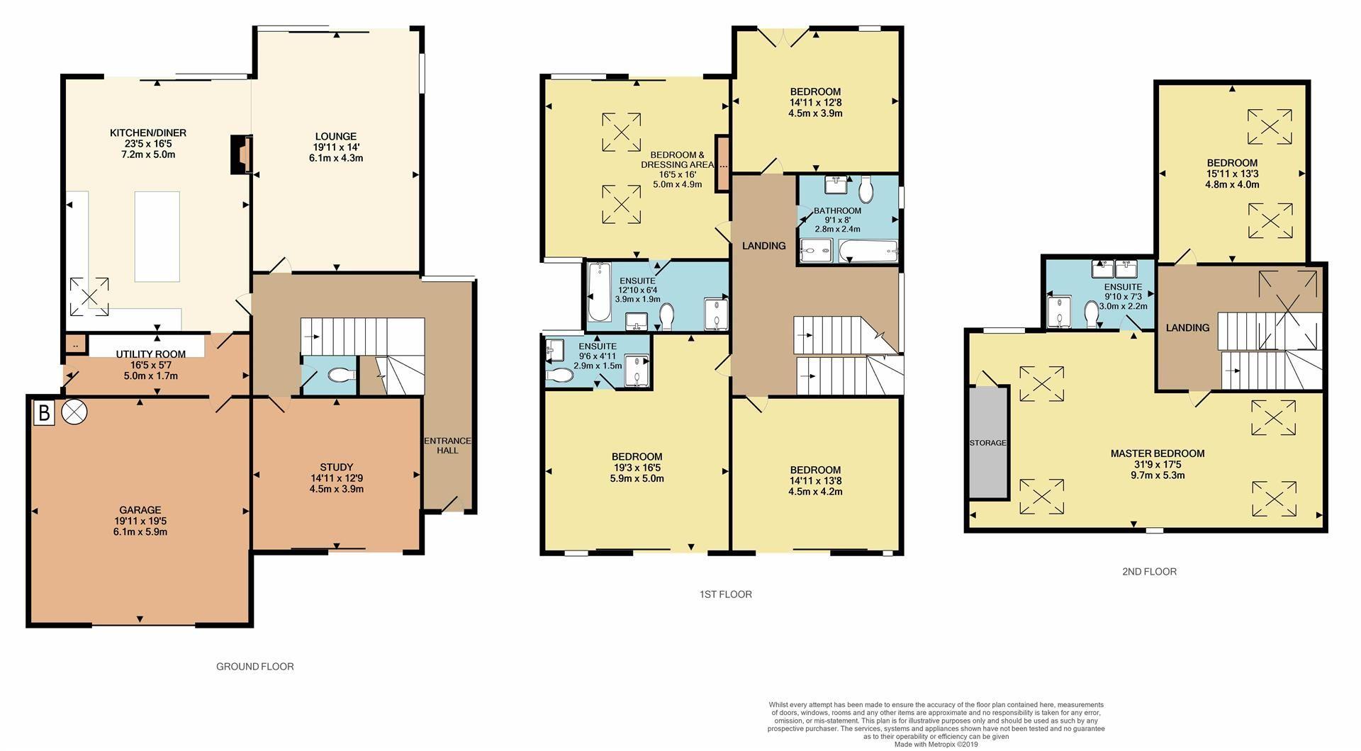 6 bed detached for sale - Property Floorplan