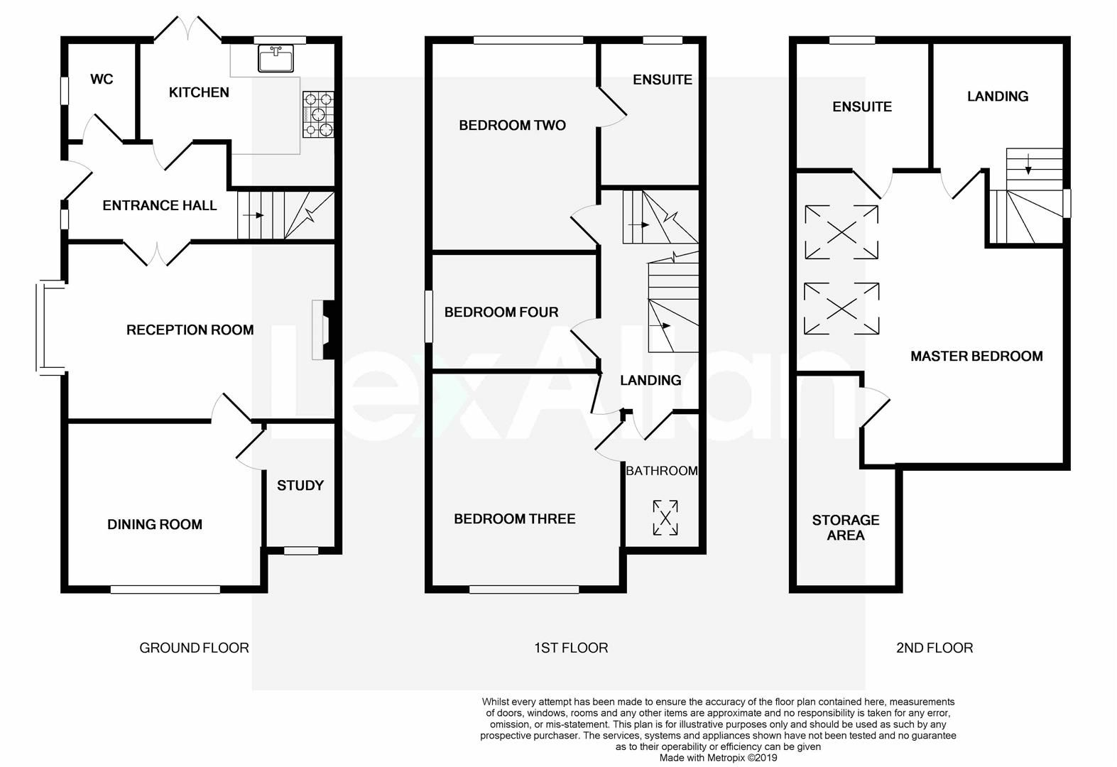 4 bed town-house for sale in Pedmore - Property Floorplan