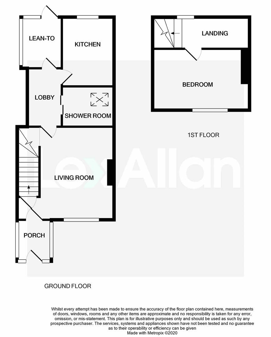 1 bed terraced for sale in Belbroughton - Property Floorplan