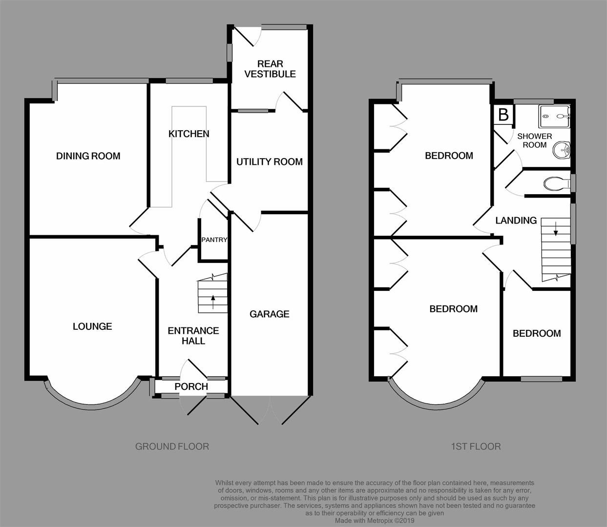 3 bed semi-detached for sale - Property Floorplan