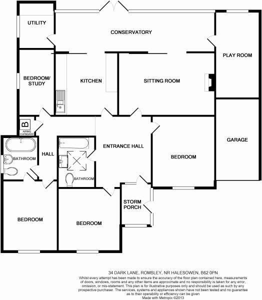 4 bed link-detached-house for sale in Romsley - Property Floorplan