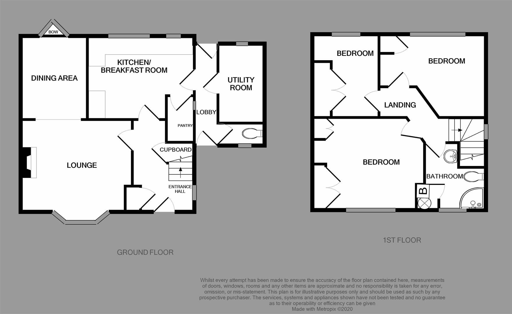 3 bed house for sale in Belbroughton - Property Floorplan
