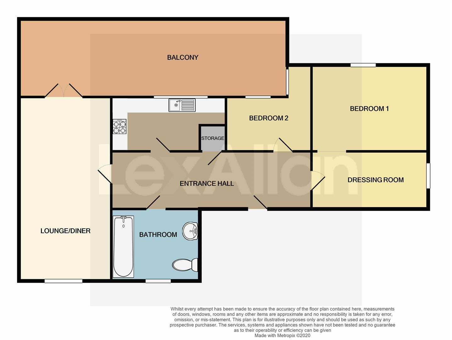 2 bed apartment for sale - Property Floorplan