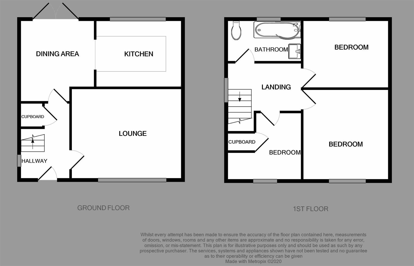 3 bed house for sale in Clent - Property Floorplan