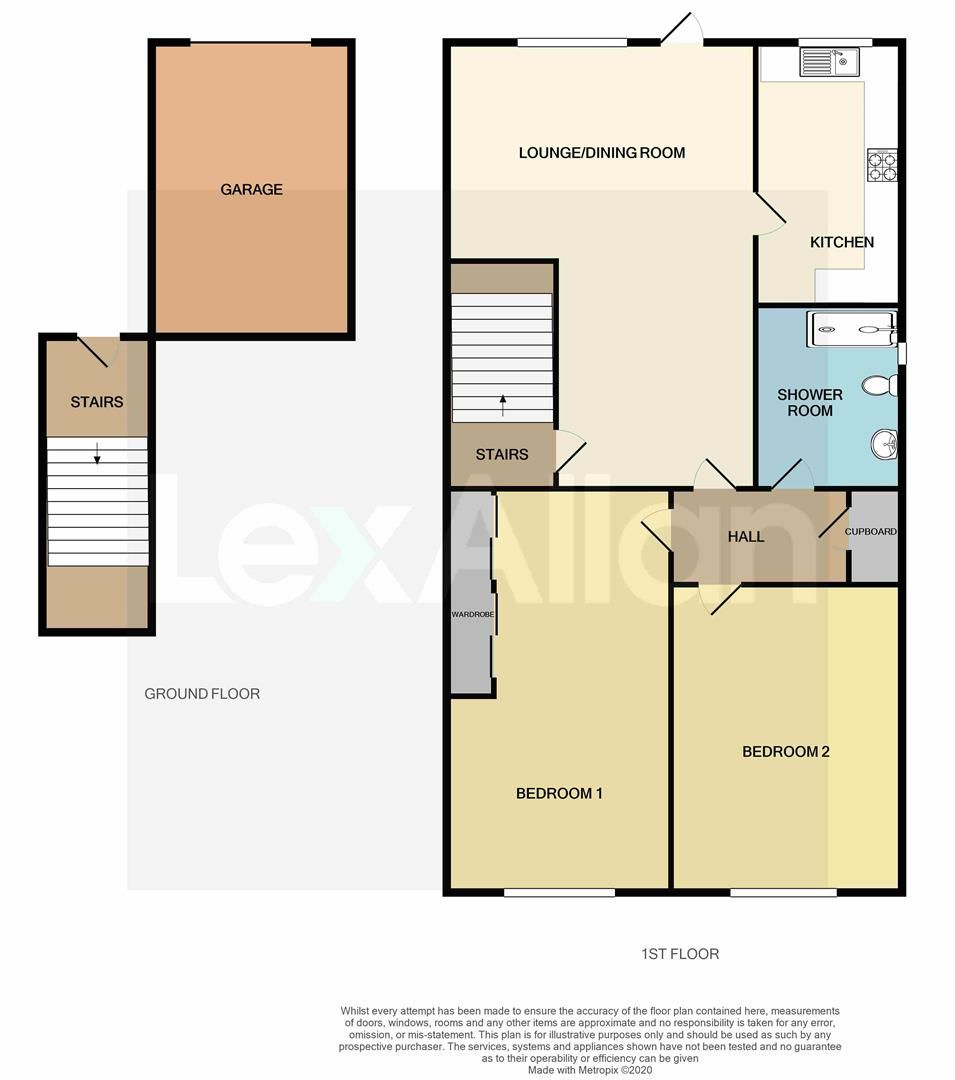 2 bed flat for sale in Pedmore - Property Floorplan