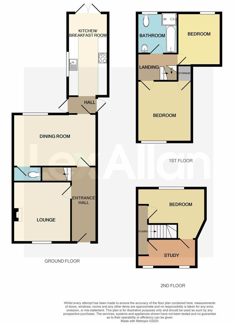 3 bed end-of-terrace for sale - Property Floorplan