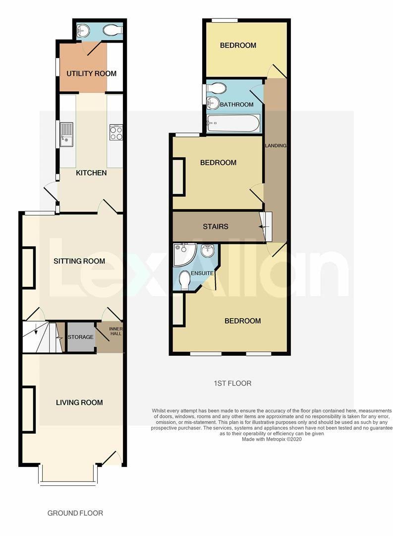 3 bed terraced for sale - Property Floorplan