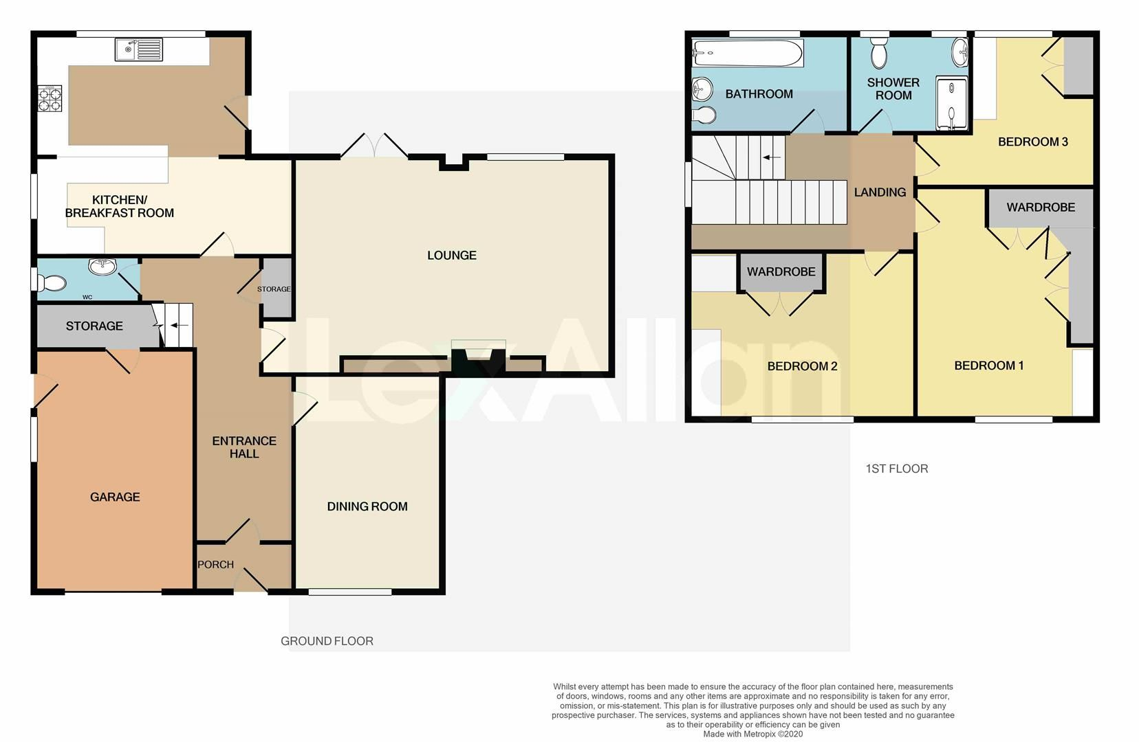 3 bed detached for sale - Property Floorplan