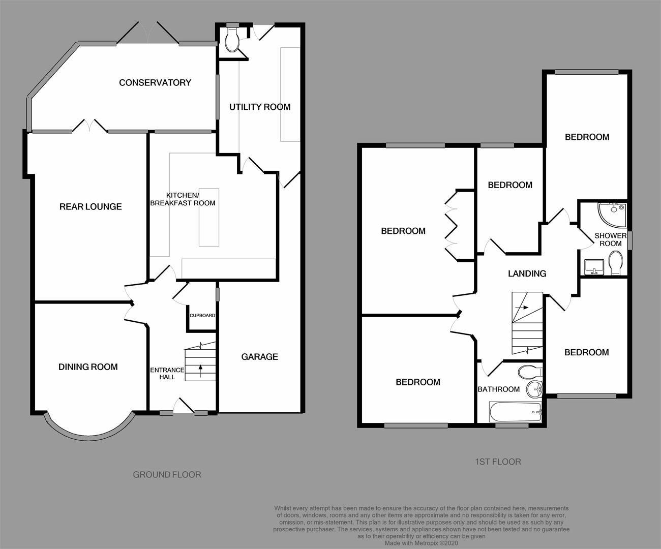 5 bed semi-detached for sale - Property Floorplan