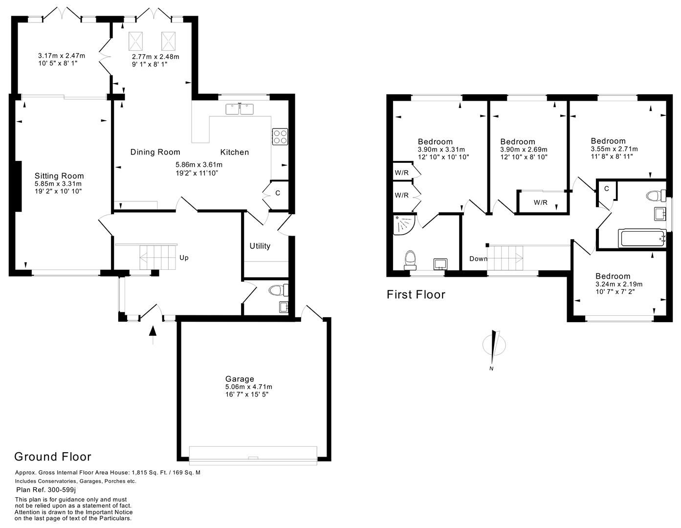 4 bed house for sale in Hagley - Property Floorplan