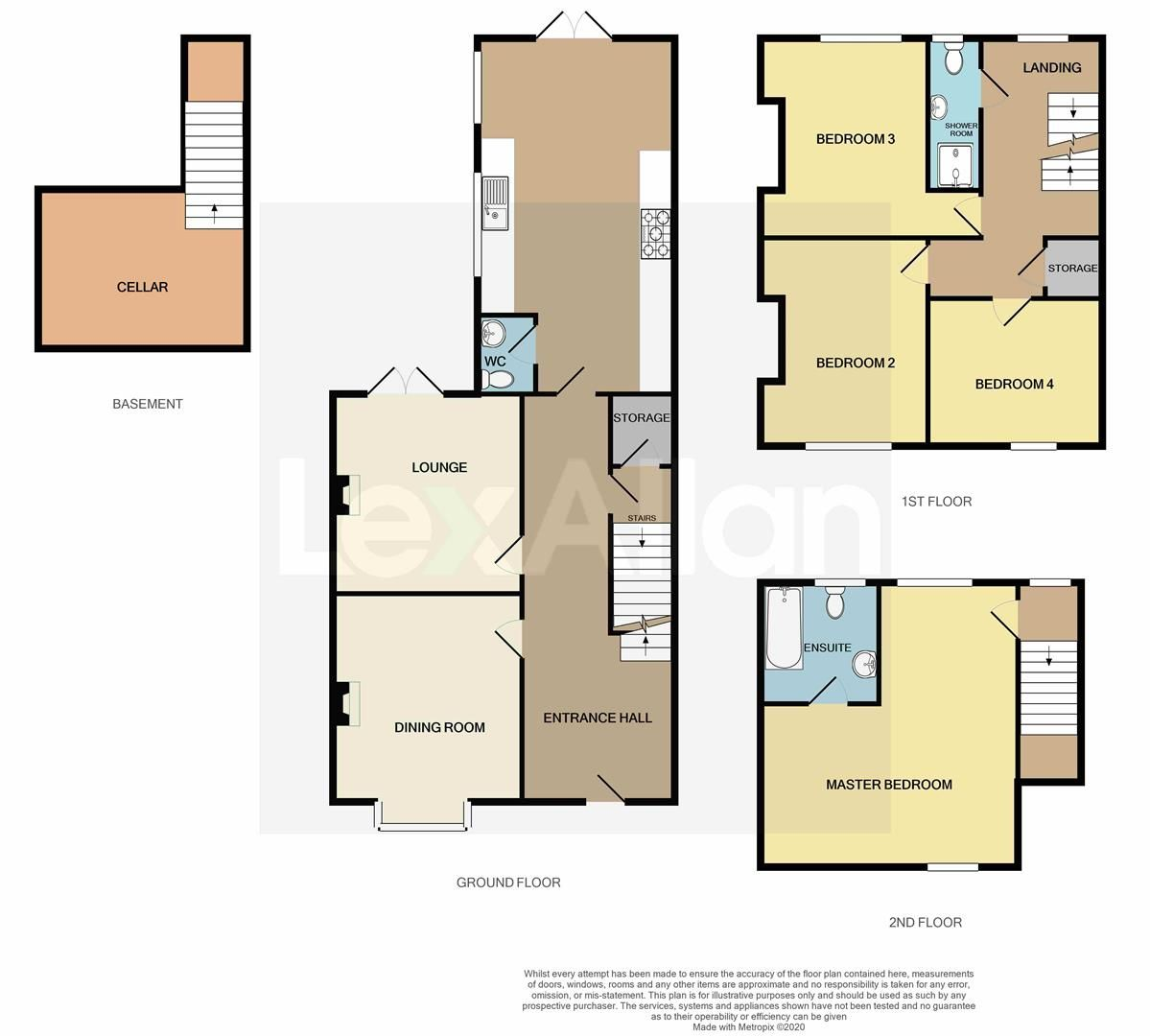 4 bed terraced for sale in Old Quarter - Property Floorplan