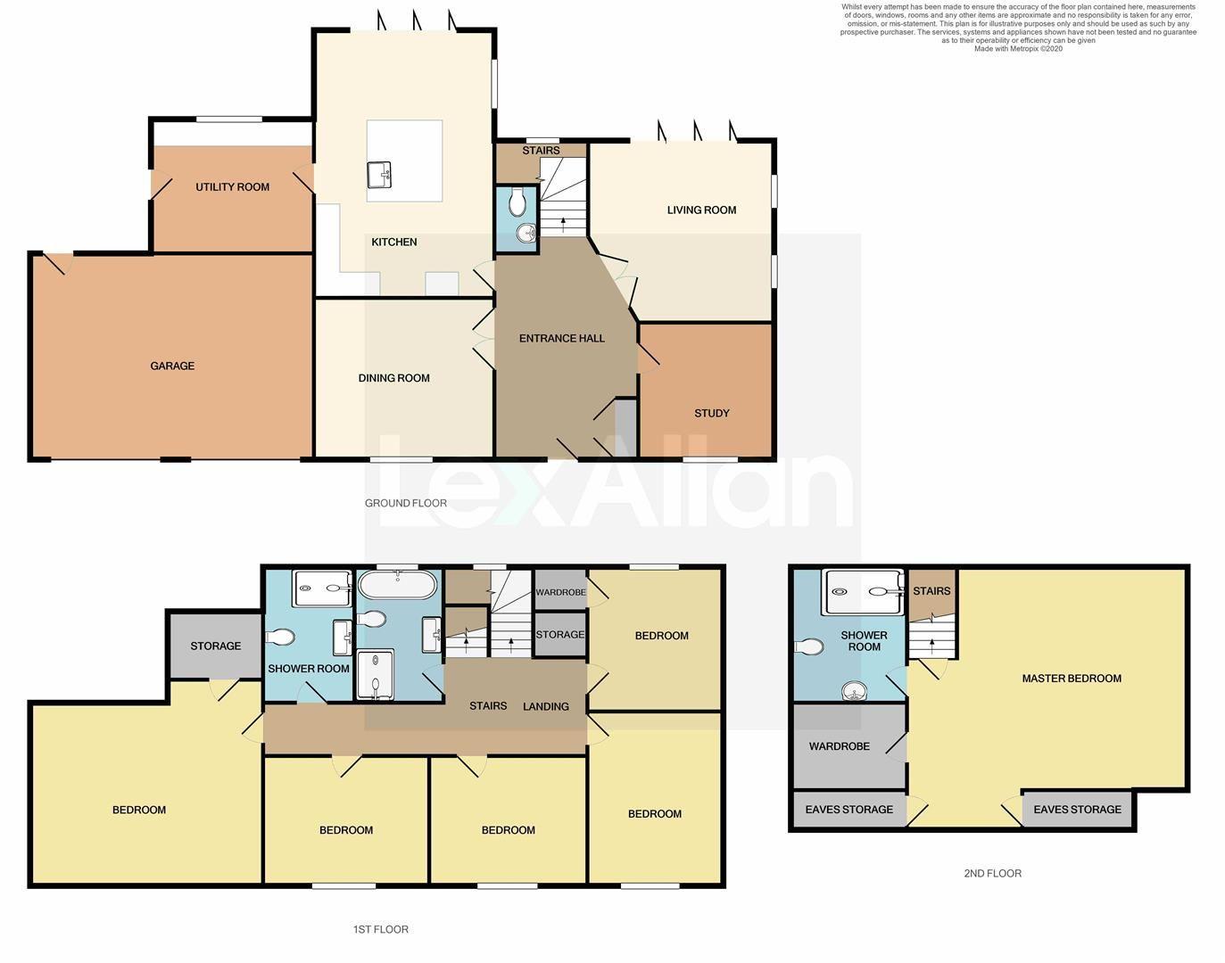 6 bed detached for sale in Kinver - Property Floorplan