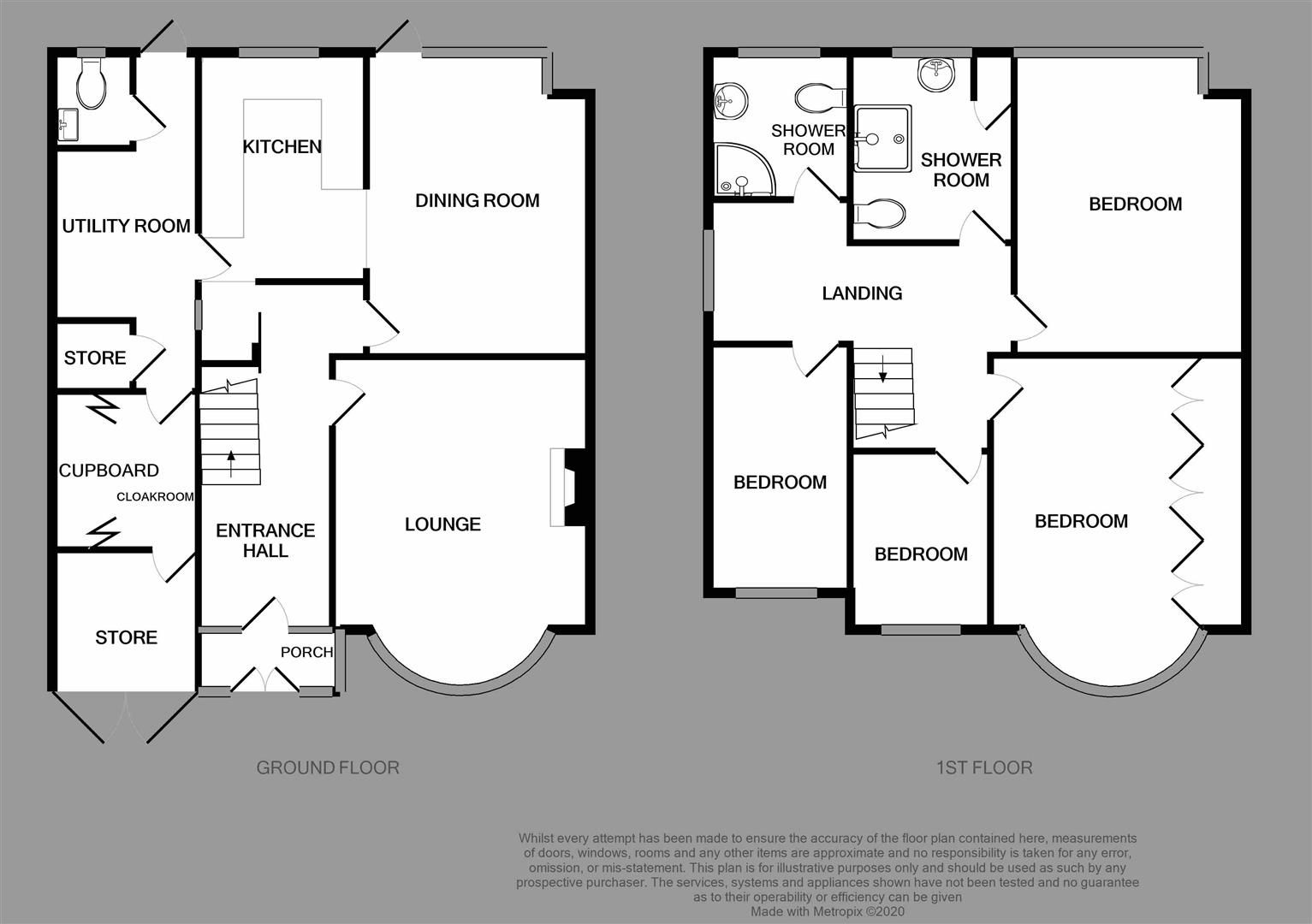 4 bed semi-detached for sale - Property Floorplan