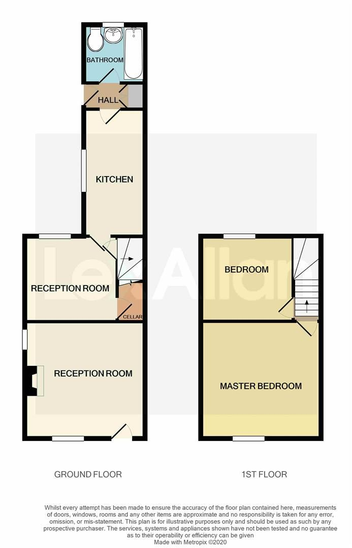 2 bed end-of-terrace for sale in Kinver - Property Floorplan