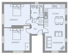 2 bed apartment for sale in New Road - Property Floorplan