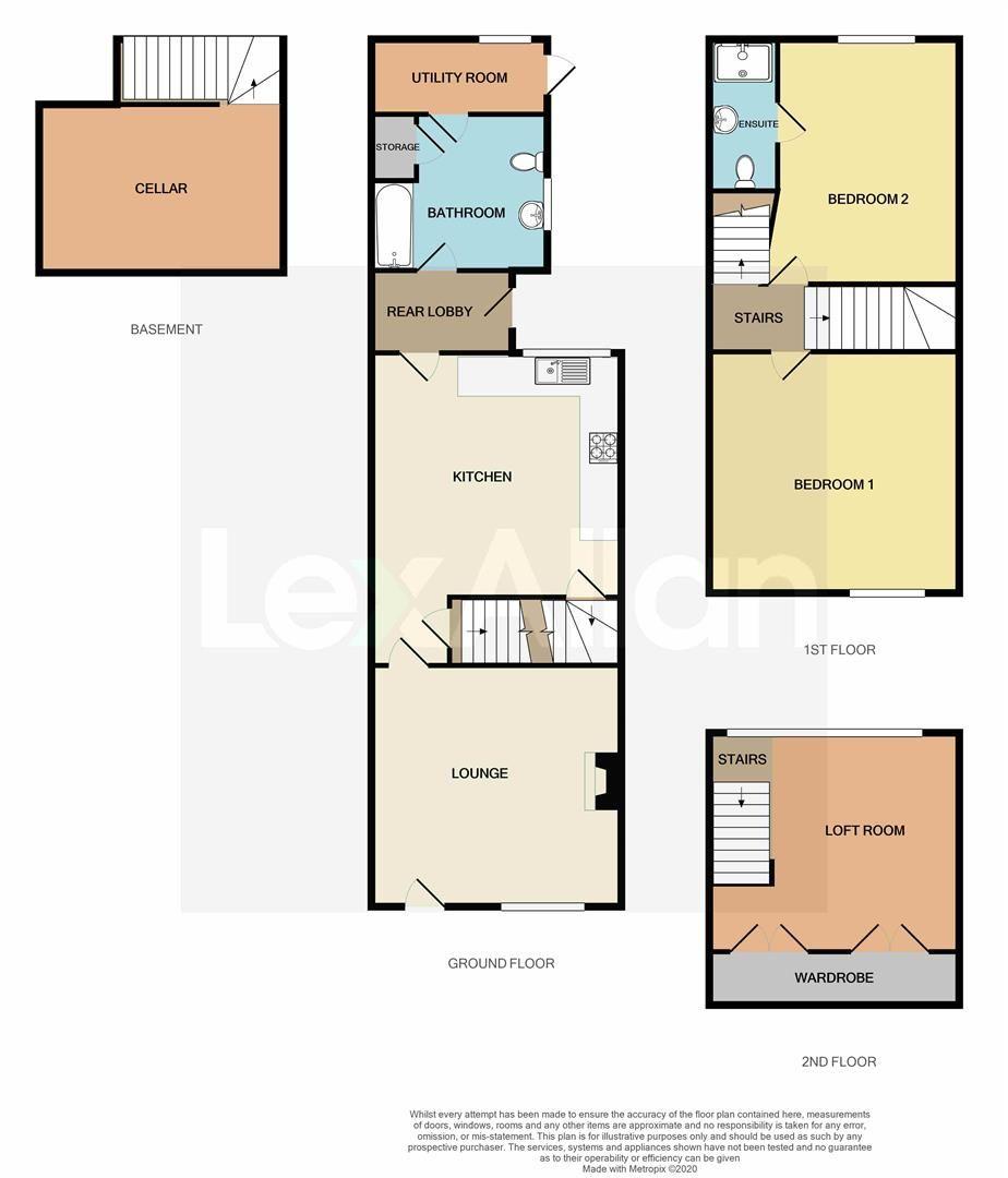 3 bed terraced for sale in Wollaston - Property Floorplan
