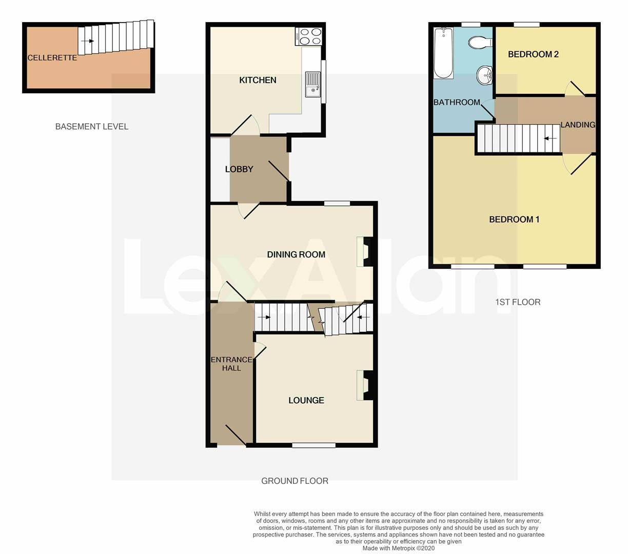 2 bed semi-detached for sale - Property Floorplan