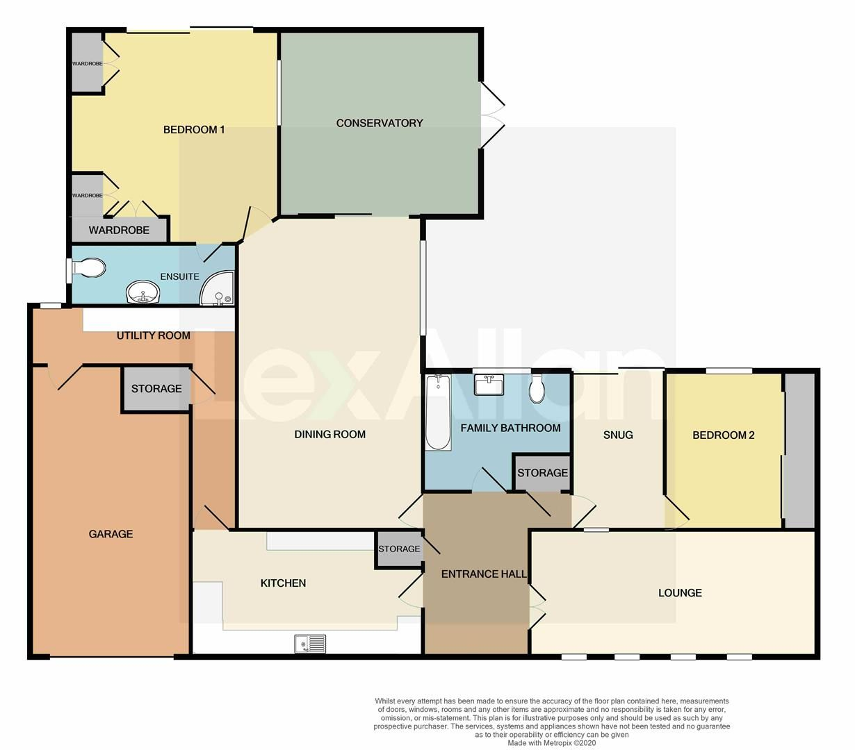 2 bed detached-bungalow for sale in Stourton - Property Floorplan