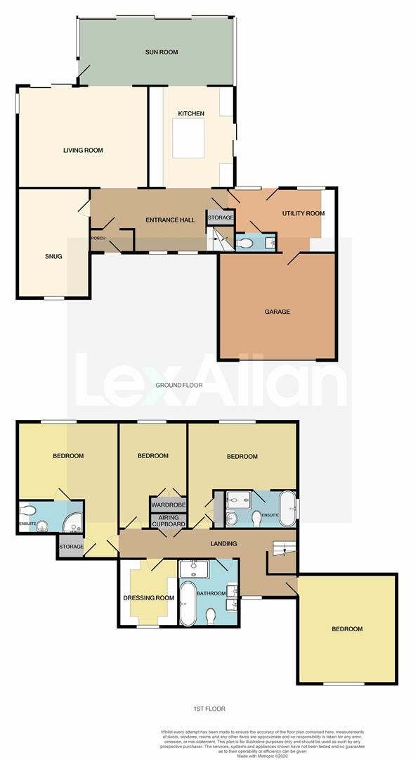 4 bed detached for sale in Stourton - Property Floorplan