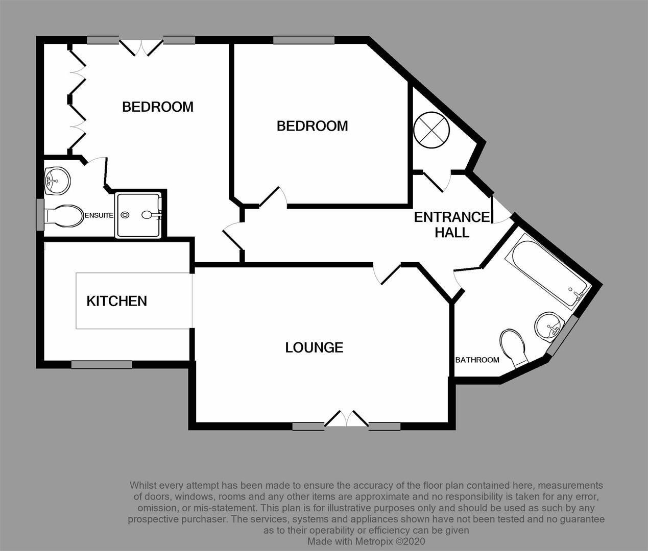 2 bed flat for sale - Property Floorplan